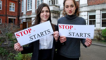 Sophia Parvizi Wayne and Amber Van Dam campaign for mental health classes to be made compulsory in a