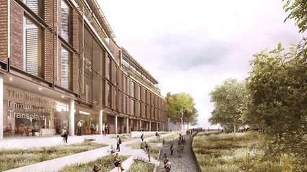 What the new Royal Free building next to Hampstead Green will look like should current plans be real