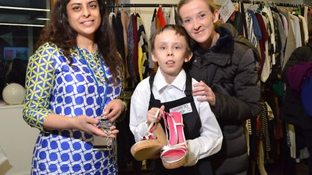 Left to right: Organiser Saba Khan with student Seamus Furey and his mum Annamarie Clancy. Picture: