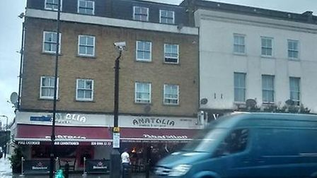 Smoke gushing from the roof of Anatolia restaurant, photo @Lady_Pennyworth on Twitter.