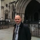Bob Warnock outside the Royal Courts of Justice after the verdict was handed down