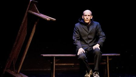 Conor Lovett in First Love by Samuel Beckett, directed by Judy Hegarty Lovett, presented by Gare St