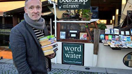 Paddy Screech at Word On The Water, London's only floating book shop. Picture: Polly Hancock