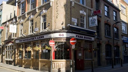 A general view of the Bricklayers Arms Pub, Shoreditch (photo: Arnaud Stephenson)