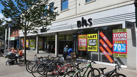The Lowestoft BHS branch on its last day of trading. PHOTO: Nick Butcher