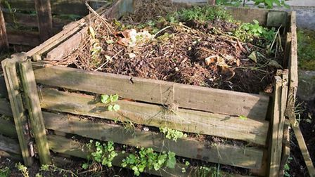 A compost bin in a garden, PA Photo/Thinkstockphotos