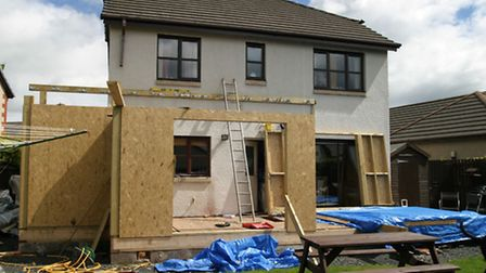 Work being carried out for a house extension. PA Photo/thinkstockphotos