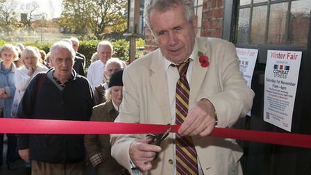 Martin Bell opens the Combat Stress Winter Fair. Picture: Nigel Sutton.