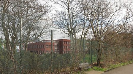 An artist's impression of how the new Parliament Hill School building will look from Hampstead Heath
