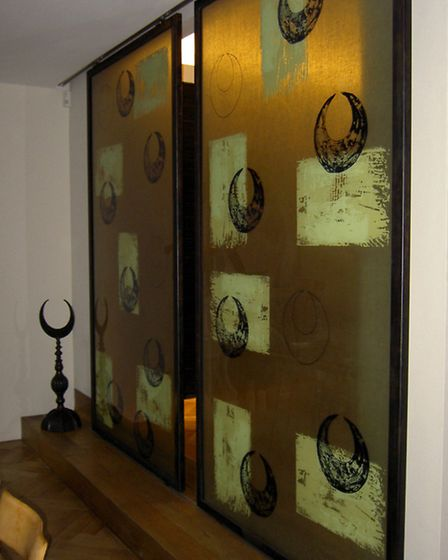 Specially commissioned doors featuring a crescent motif