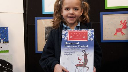Hampstead Christmas festival art competition prize giving. The Art competition, (sponsored by Savill