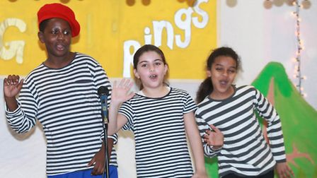 Children of Randal Cremer Primary School perform in the Christmas show