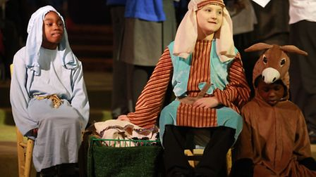 Children of St John of Jersualem Primary School perform in the Christmas nativity