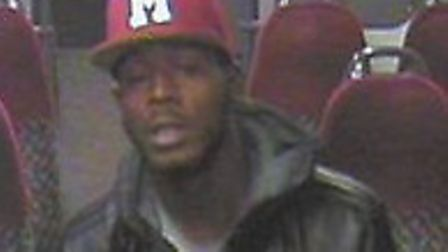 The man police would like to speak to in connection with the incident.