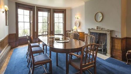 Dining room in the nineteenth-century rear extension