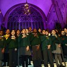 Colvestone primary school choir at the Christmas concert