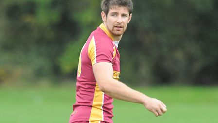 Dan Dimoline scored two tries for Hampstead but they were defeated. Pic: Paolo Minoli