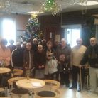 Tawhid School pupils with Age UK workers and elderly