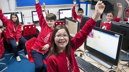 Pupils at Christ Church Primary School. Picture: Nigel Sutton