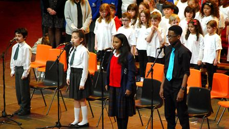 Camden pupils perform at the Camden Music Festival, run by the Camden Music Service. Picture: Polly