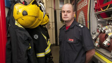 Firefighter Ross Powell who is working on Christmas Day. Picture: Nigel Sutton