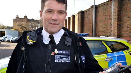 PC Andy Blezard at Kentish Town Police Station. Picture: Polly Hancock
