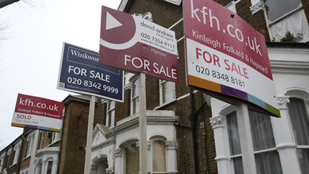 London property market fell this month