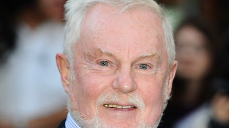 Sir Derek Jacobi arriving at the premiere of 'Morris, A Life With Bells On', at The Prince Charles C