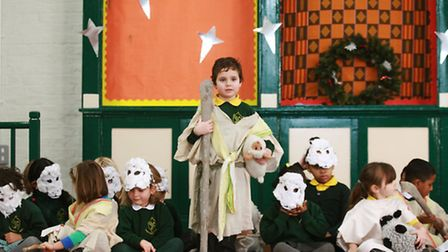 Children of Colvestone Primary school perform in the Christmas nativity