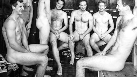 Hampstead and Westminster Hockey Club men's first team get into their birthday suits for the calenda