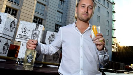 Mark Holdsworth launches his Half Hitch gin in a bid to bring gin-making back to Camden. Picture: Po