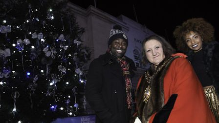 Hackney Speaker with Kojo and Jade from Capital FM. Photo Gary Manhine for Hackney Council.