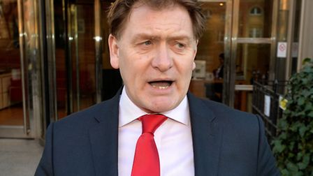 Eric Joyce leaves Westminster Magistrates' Court today. Picture: PA/John Stillwell.