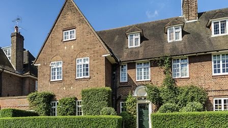 Back view of house on Heathgate in Hampstead Garden Suburb, NW11