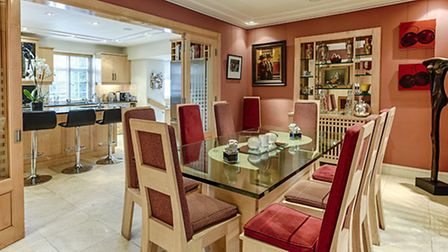 Living room at house on Heathgate in Hampstead Garden Suburb, NW11