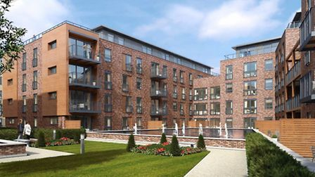 CGI Exterior of Stanmore Place Phase 7