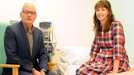 Dr Michael Jacobs and Pauline Cafferkey, who has made a complete recovery from Ebola and been discha