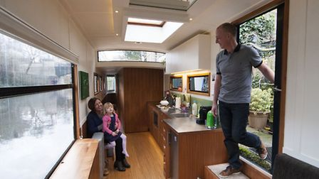 Pete Young, Carol Slater & Daughter Amber.�Living on the Water at Cumberland Basin Regents Canal