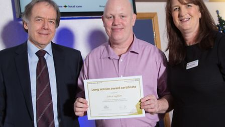 From left to right: Stephen Ainger, non-executive director of the trust, John Coughlan, Deborah Sand