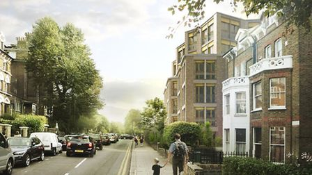 An artist's impression of the proposed new development of retirement flats on the site of Arthur Wes