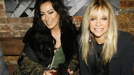 Nancy Dell'Olio and Jo Wood enjoy the celebrations at The Cuban in Camden Town. Picture: James Curle