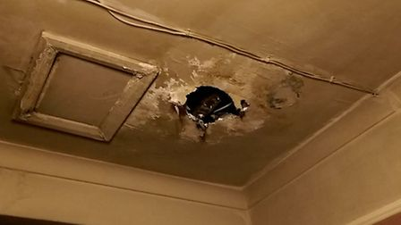 Water leaks at the HappyVale got so bad they caused ceilings to collapse