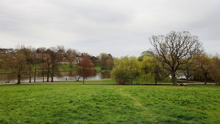 The model boating pond before the works