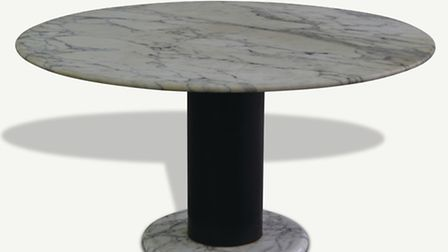 Lotorosso marble table by Ettore Sottsass