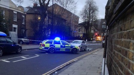 Rectory Road is closed in both directions. Photo: Bezalel Just