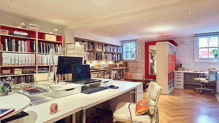 The library at Mia Karlsson's interiors showroom in Highgate, N6
