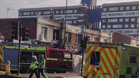A man is in a critical condition following the blaze in Mare Street. Photo Betzalel Just.