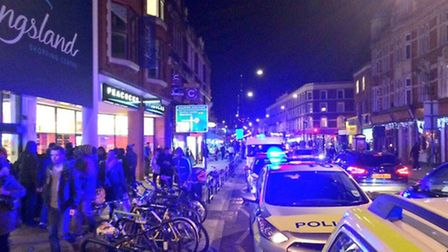 Joint response units tweeted: On scene yesterday with @MPSHackney where a patient was stabbed, taken