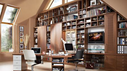 Avalon fitted home office, Neville Johnson. PA Photo/Handout
