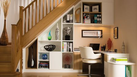 Stylish understair home office, Neville Johnson. PA Photo/Handout